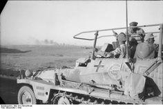 """Generalfeldmarschall, Erwin Rommel on his command light Schützenpanzer Sd.Kfz. 250/3 """"Greif. North Africa 1942"""