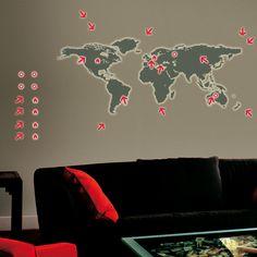 Fab.com | Glow World Map
