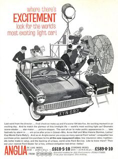 Lovely old Ford Anglia advert. Surprised to see that Ford weren't using their familiar logo. Carter Collectables ‏cartercollectables.co.uk