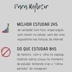 Não adianta estudar 8 horas que na verdade não fecham nem uma. Então foque nos livros que a aprovação vem! Mental Map, Study Motivation, Student Life, School Organization, Pretty Little Liars, Better Life, Self, Mindfulness, Quotes