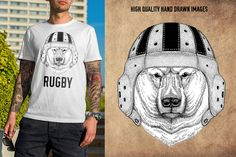 Football and rugby by Art Loft on @creativemarket