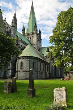 NIDAROS CATHEDRAL - TRONDHEIM - NORWAY...beautiful cathedral and its Rosé window is amazing.