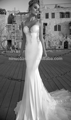 tight lace mermaid tail wedding dress - Google Search