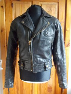 Vintage Langlitz Leather Men's Talon Zip Motorcycle Thick Leather Jacket - USA