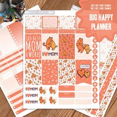 Mother's Day Planner Stickers Printable Big Happy Planner