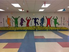 School Mural project, student-created