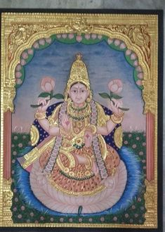 Mysore Painting, Tanjore Painting, Indian Folk Art, Traditional Paintings, Retirement Gifts, Gods And Goddesses, Decoration, Art Gallery, Aurora Sleeping Beauty