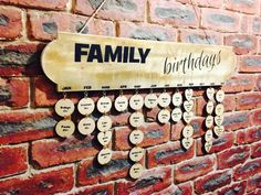 Hall Coat Rack, Coat Hanger, Family Birthday Calendar, Beach House Signs, Mom And Grandma, Family Birthdays, Beach Wall Art, Wall Signs, Wooden Signs
