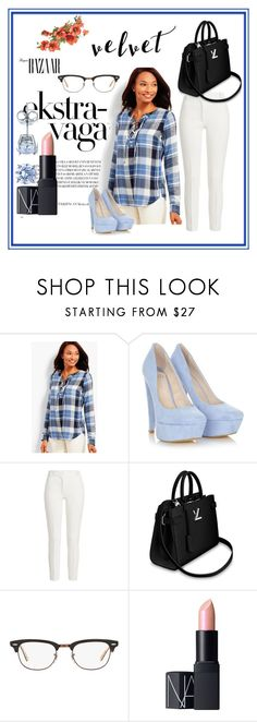 """""""Bez naslova #181"""" by laura-1234 ❤ liked on Polyvore featuring beauty, Talbots, Joseph, Ray-Ban, NARS Cosmetics, BERRICLE and plus size clothing"""