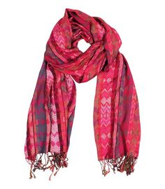 bb1d0ea7a Anika Dali Amelia Chevron Pattern Lux Scarf with Tassels (Raspberry) at Amazon  Women's Clothing store: Fashion Scarves