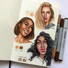 Amazing Learn To Draw Eyes Ideas. Astounding Learn To Draw Eyes Ideas. Copic Marker Art, Copic Art, Beautiful Drawings, Cool Drawings, Drawings Of Girls Faces, Realistic Eye Drawing, Drawing Eyes, Rides Front, Face Illustration