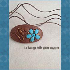 Fermaglio per capelli - Fermaglio fiore - Fermaglio pietre dure - Fermaglio turchese - Handmade - Creazioni artigianali di AnnieGioielli su Etsy