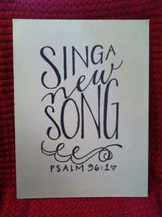 Sing A New Song hand painted canvas12x16 by AllThingsToEnjoy