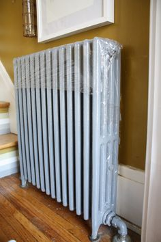 Enclosed radiator, ready for painting.