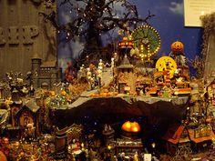 Halloween Village Display / Dept. 56 Halloween Display / - Department 56 halloween display, via Flickr
