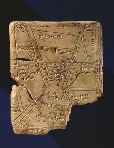 Babylonian map on tablet. Fifteen hundred BC.