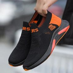 Casual Shoes Summer Mesh Men Shoes Lightweight Sneakers Men Fashion Casual Walking Shoes Breathable Slip on Men's Loafers | Touchy Style Black Sports Shoes, Black Shoes Sneakers, Sports Shoes For Girls, Black Casual Shoes, Casual Leather Shoes, Shoes With Jeans, Casual Sneakers, Mens Walking Shoes, Loafers Men