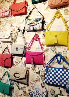 New wall of handbags in our shop!