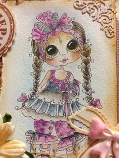 Bestie close-up by Diny Sprakel..... see entire card in her blog post