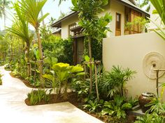 Garden of Anantara Rasananda Phangan Island Resort & Spa in Thong Nai Pan Noi on the east coast of Koh Phangan, Thailand