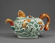 The most amazing Meissen teapot from the Frick Museum in New York!  Love to have something even a little bit like this!