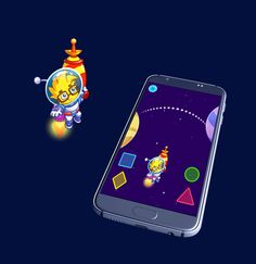 Beautiful game art and animation. Educational game for kids. Professional game graphics. Android app. Gif animation. Animated GIF.