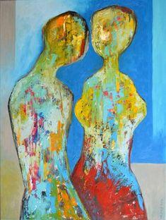"""Saatchi Art Artist Miroslav Hajnos; Painting, """"He and She"""" #art"""