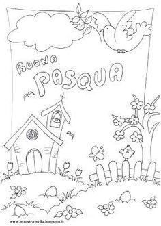 Maestra Nella Pasqua Disegni Da Colorare Easter Crafts For Kids