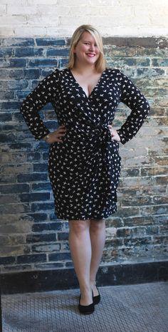 McCall's M6884 fixed wrap dress | Cashmerette