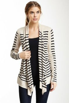 Sweet Romeo Lucy Stripe Cardigan by Non Specific on @HauteLook