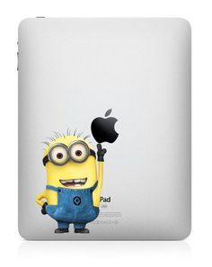 Despicable Me - iPad Decal iPad 2 Stickers iPad Mini Decals iPad Stickers Apple Vinyl Decal for Macbook Pro / Macbook Air / iPad Mac Stickers, Mac Decals, Apple Stickers, Macbook Stickers, Macbook Decal, Funny Stickers, Vinyl Decals, Macbook Air, Ipad Mini Cases