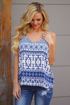 Sail Away With Me Tank - Navy Code REPJENNIFER=10% off and FREE shipping!
