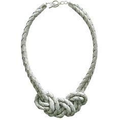 Three Knots Necklace White