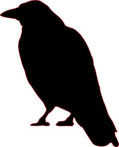 Crow Silhouette Clip Art cutout for Halloween