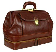 Perfect gift for vintage lovers. Leather Brown Doctor Bag, Medical Bag, Handbag – a unique product by TimeResistance via en.DaWanda.com