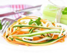 Tagliatelles de légumes au curry et au cumin