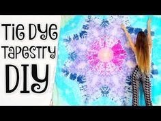c13ba157962c DIY TAPESTRY - Mandala Bed Sheets Tie Dye - Star Tie-Dye How To -