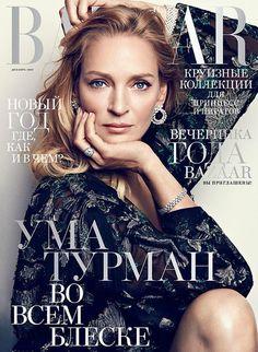 Uma Thurman for Harper's Bazaar Russia - December 2015