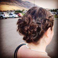 Braided updo.                             @twirlsandcurlshd Curls Hair, Braided Updo, Curled Hairstyles, Hair Designs, Updos, Vancouver, Studios, Braids, Dreadlocks