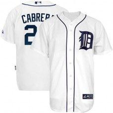 Detroit Tigers #24 Miguel Cabrera White Replica Baseball Jersey_Miguel Cabrera Baseball Jersey