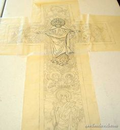 Sketched Design for Ecclesiastical Embroidery