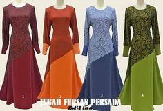 Butik Liza Kurung Moden: ♥ JUBAH FURSAN PERSADA ~ SAIZ 38 - 48 ♥