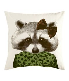 i'm going to die if i can't have this pillow. and i can't. not only is it UK it's sold out. i love this raccoon.