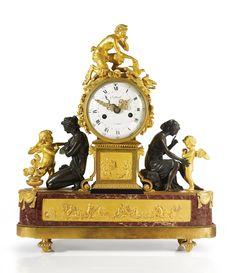 A Louis XVI ormolu, patinated bronze and rouge royal marble mantel clock circa 1785, the dial signed Collard a Paris 15,000 — 25,000 USD Lote. Vendido 32,500 USD (Precio de adjudicación con prima del comprador)