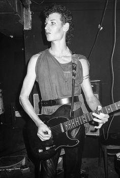 Daniel Ash of Bauhaus, Tier 3, New York City, 1980  Happy Birthday to Daniel Ash! (31 July 1957) via