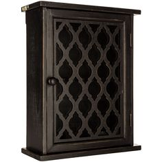 **NEW**Black Quatrefoil Wood Wall Cabinet with Glass Door, ShabbY Chic Decor! Decor, Shabby Chic Decor, Wall Cabinet, Glass Door, Wood Wall, Mirror Wall Decor, Wood Cabinets, Glass Cabinet Doors, Decorative Storage