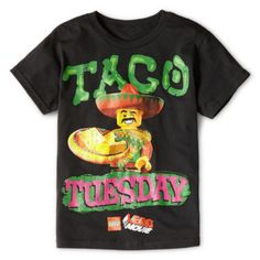 If he loves Legos, this graphic tee will be his new fave.