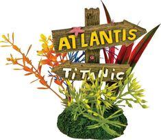Blue Ribbon Pet Products-Exotic Environments Atlantis And Titanic Sign Small