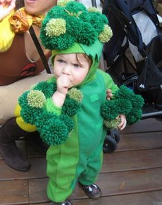 If your #baby doesn't like his greens, maybe he should wear them instead.