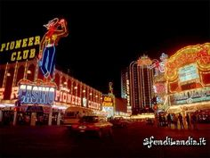 Las Vegas... Fremont Street before they built the Experience... when you could actually drive down the street!